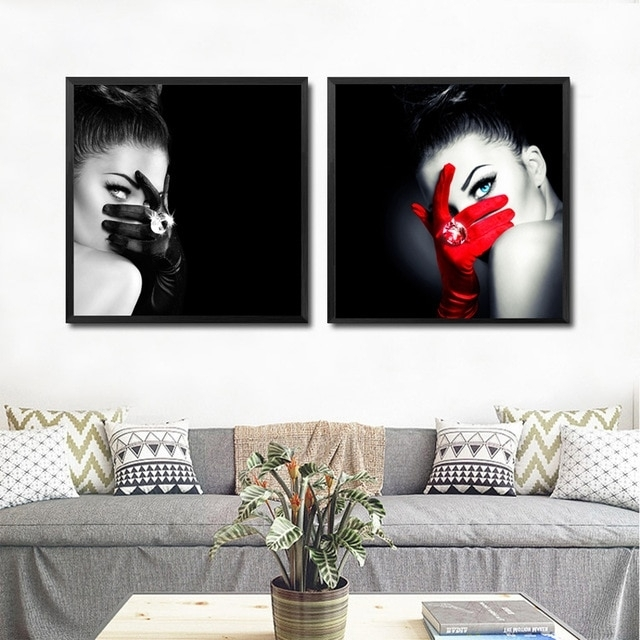 Make Up Fashion Wall Art Canvas Painting Black Red Art Picture Pertaining To Fashion Wall Art (View 9 of 10)
