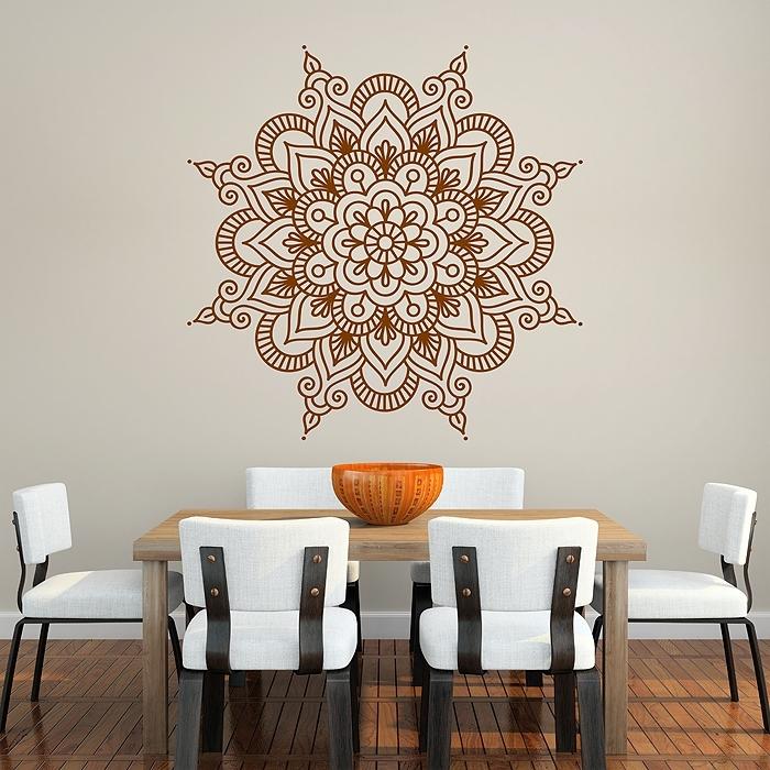 Mandala Vinyl Wall Art Decal Regarding Mandala Wall Art (Image 3 of 10)