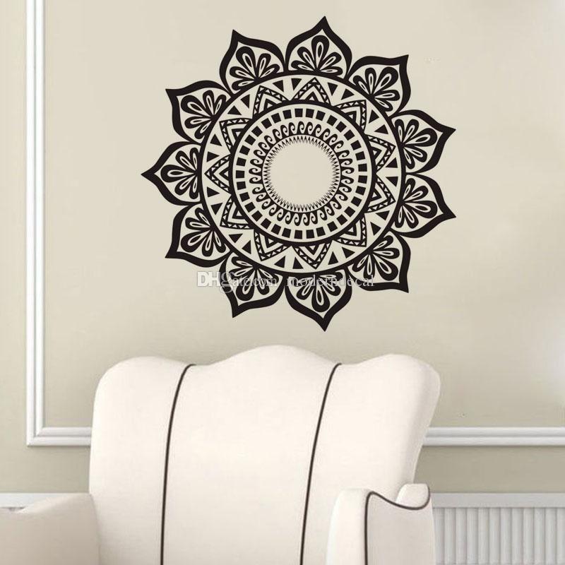 Mandala Wall Stickers Decoration Removable Vinyl Art Wall Decal In Mandala Wall Art (Image 7 of 10)