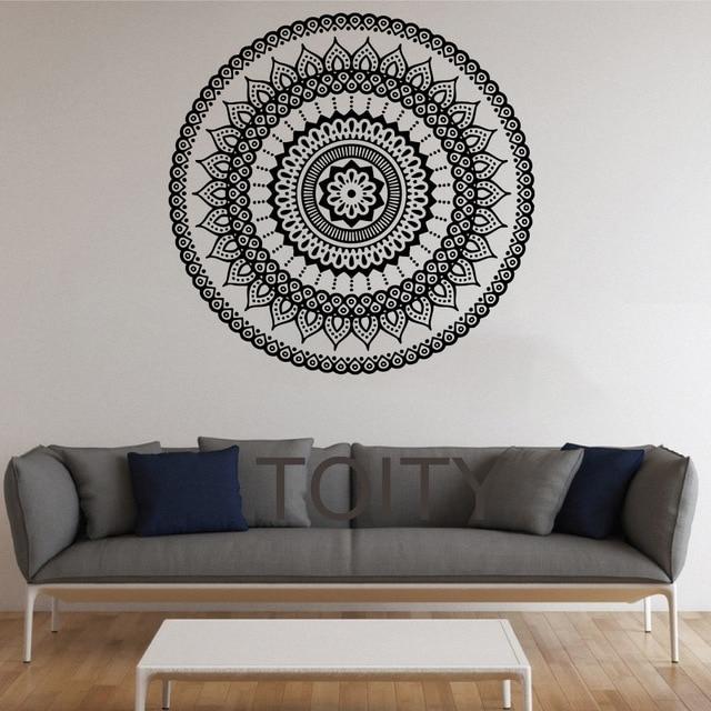 Mandala Wall Stickers Indian Round Pattern Symbol Vinyl Decal Within Mandala Wall Art (Image 8 of 10)