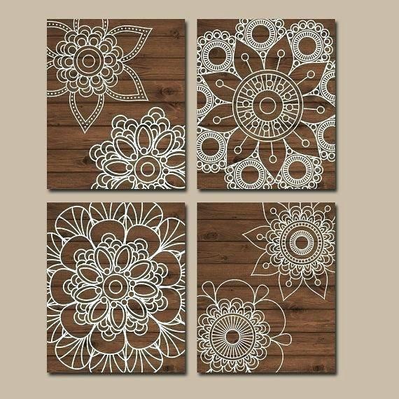 Mandalas Wall Art Mandala Wall Art Wood Wall Art Bedroom Pictures Inside Mandala Wall Art (Image 9 of 10)