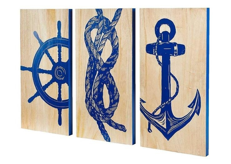 Marine Blue Printed Wall Art Regarding Nautical Wall Art (View 4 of 10)