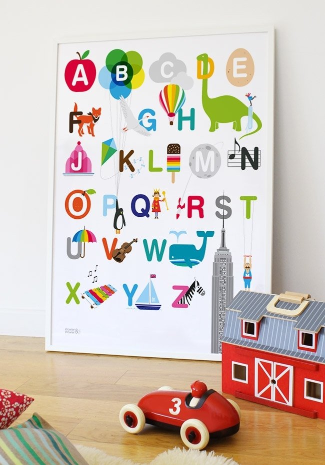 Marvelous Alphabet Wall Art – Wall Decoration Ideas Throughout Alphabet Wall Art (Image 9 of 10)
