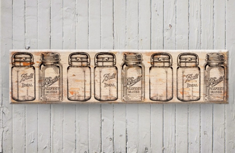 Mason Jar Art | Farmhouse Art | Wall Art In Mason Jar Wall Art (View 8 of 10)