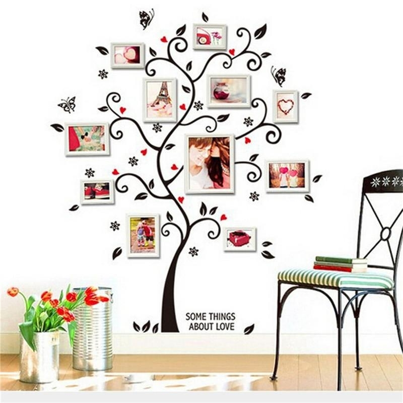 Memory Family Tree Diy Wall Art Home Decor Stickers For Living Room Inside Family Tree Wall Art (Image 6 of 10)
