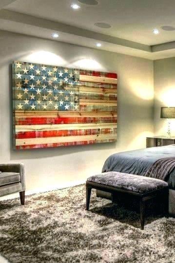 Metal American Flag Wall Art Wall Arts Wooden Flag Wall Art Wood And Within Vintage American Flag Wall Art (Image 6 of 10)