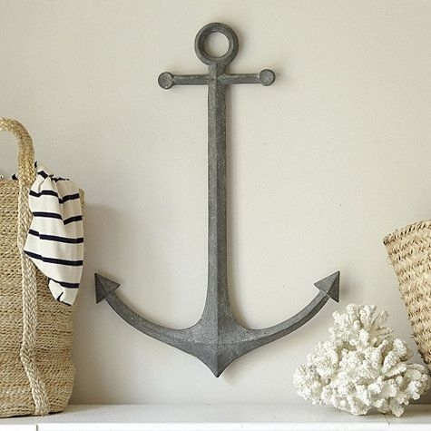Metal Anchor Wall Decor // Ballard Designs | Great Room | Pinterest With Regard To Anchor Wall Art (View 2 of 10)