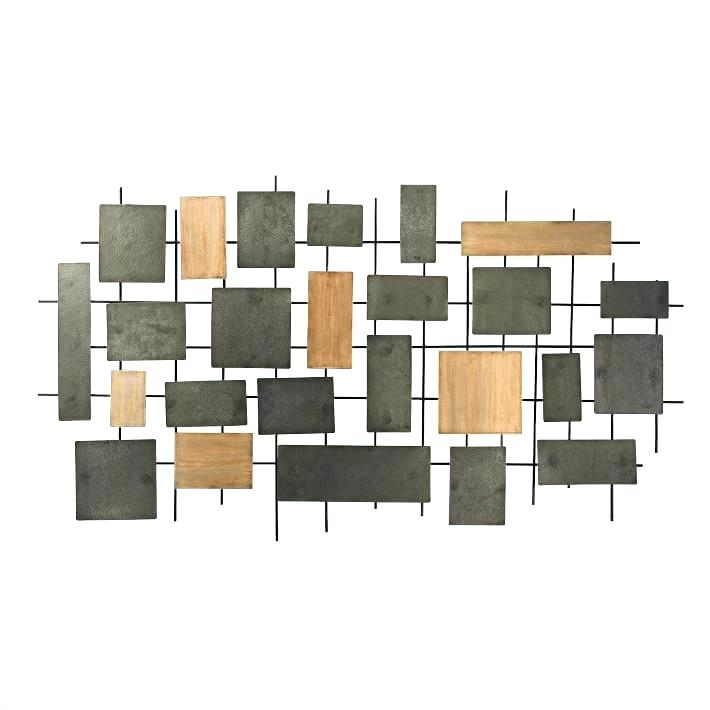 Metal And Wood Wall Decor Home Decor Metal Wood Wall Panel Inch Wall Pertaining To Wood And Metal Wall Art (Image 2 of 10)