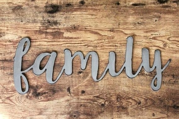 Metal Family Sign Metal Sign Wall Sign Family Name Aluminum Steel Pertaining To Family Metal Wall Art (Image 8 of 10)
