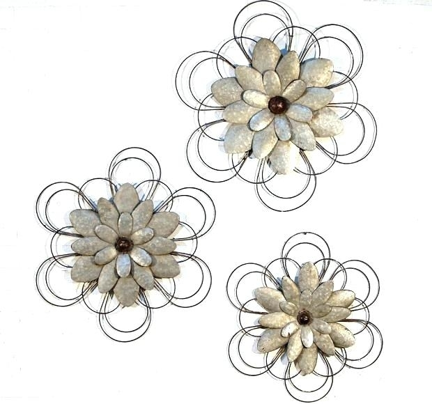 Metal Flowers Metal Flower Metal Flowers Wall Art Wall Art Ideas Intended For Metal Flowers Wall Art (View 2 of 10)