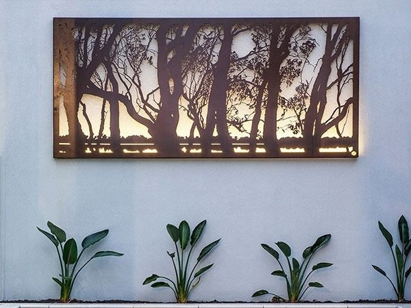 Metal Garden Art & Sculptures | Outdoor Metal Wall Art & Screens For Outdoor Metal Wall Art (Image 7 of 10)