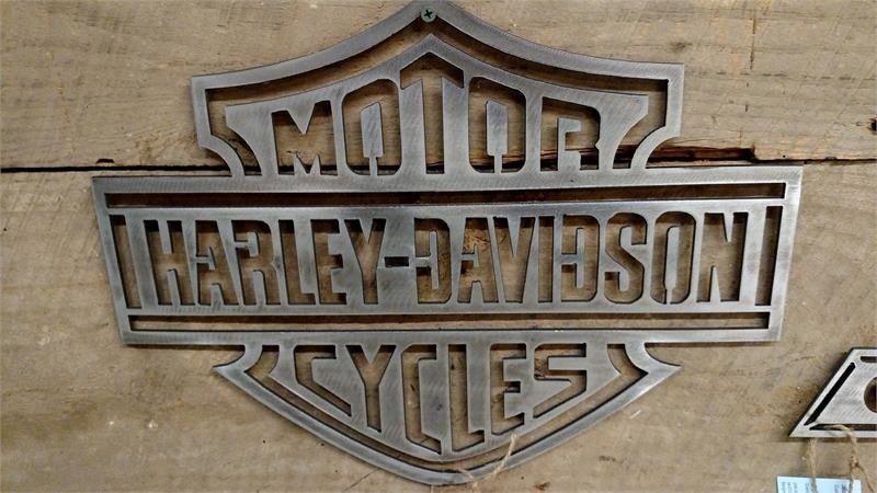 Metal Harley Davidson Sign Wall Art Intended For Harley Davidson Wall Art (Image 8 of 10)