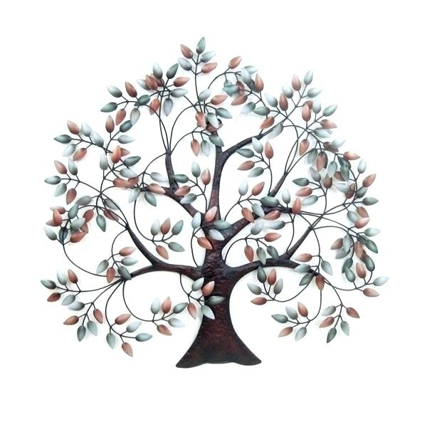 Metal Leaves Wall Decor Metal Wall Art Trees Metal Tree Wall Decor In Metal Wall Art Trees (Image 4 of 10)