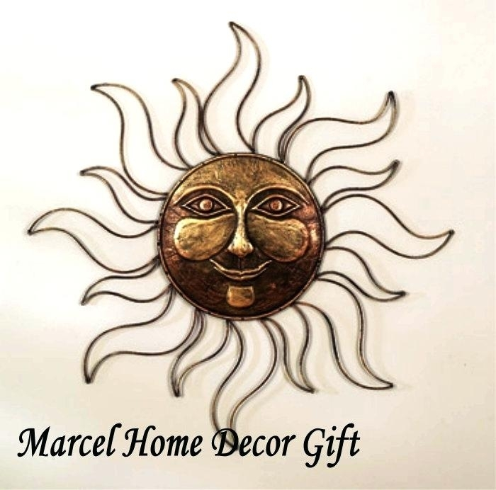 Metal Outdoor Wall Art Amazing Fascinating Sun Face Metal Outdoor Pertaining To Outdoor Sun Wall Art (Image 1 of 10)