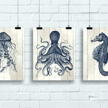 Metal Sea Life Wall Art Jellyfish Wall Art Jellyfish Octopus Sea For Sea Life Wall Art (View 3 of 10)