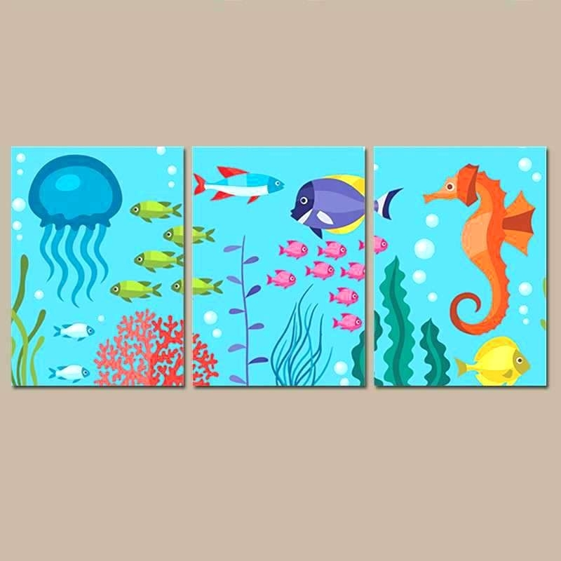 Metal Sea Life Wall Art Wall Arts Metal Wall Art Fish School Of With Regard To Sea Life Wall Art (View 5 of 10)