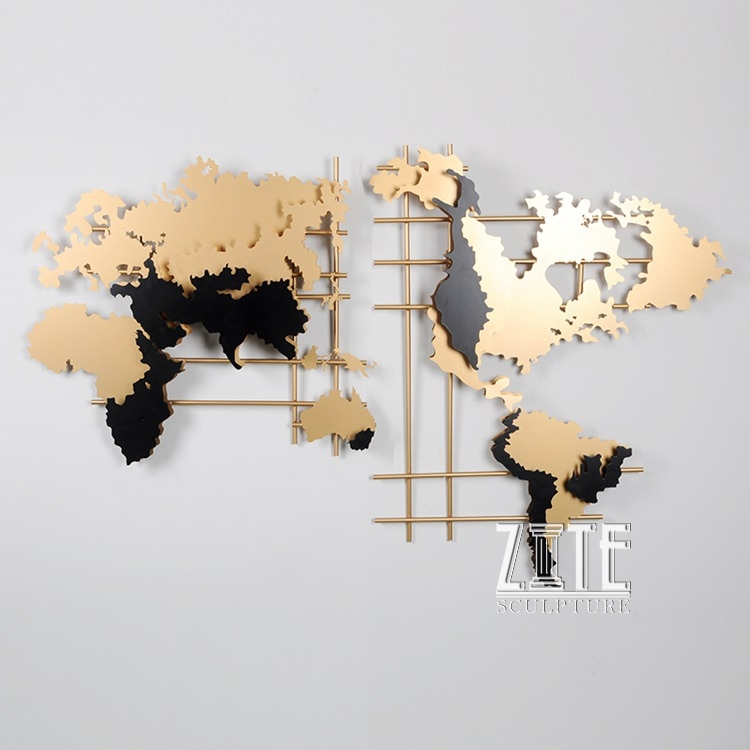 Metal Steel World Map Wall Art Decor – Buy Wall Art,metal Wall Art Pertaining To Wall Art World Map (Image 3 of 10)