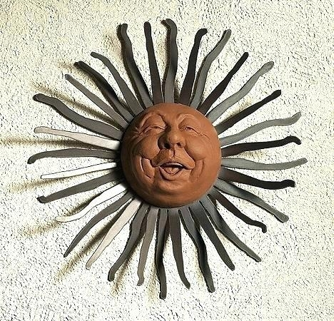 Metal Sun Art Outdoor Sun Wall Art Sun Art Wall Hanging Medium Size In Outdoor Sun Wall Art (Image 2 of 10)