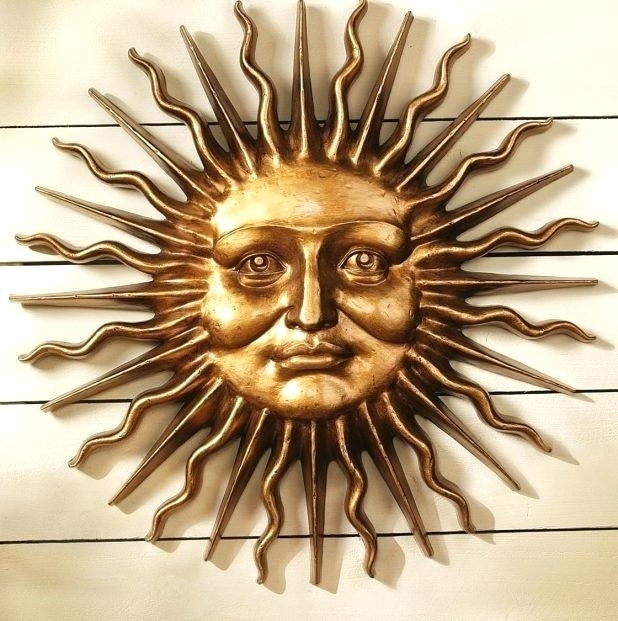 Metal Sun Wall Art Outdoor Outstanding Excellent Half Face Sun Regarding Outdoor Sun Wall Art (Image 3 of 10)