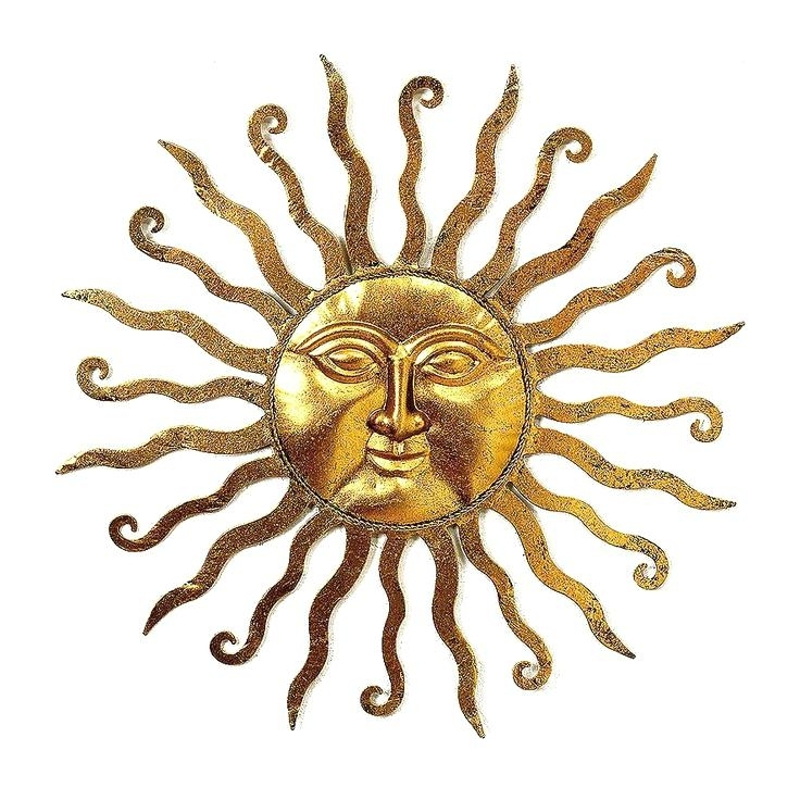 Metal Sun Wall Decor Sun Wall Art Large Metal Starburst Wall Decor Pertaining To Outdoor Sun Wall Art (Image 4 of 10)