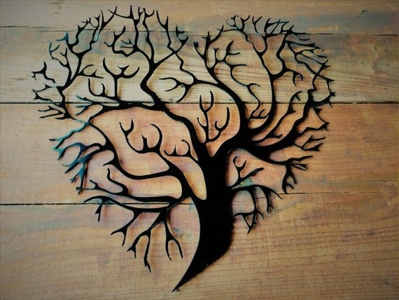Metal Tree Of Life Metal Tree Wall Art Tree Wall Decor Tree | Etsy Within Tree Of Life Metal Wall Art (Image 3 of 10)