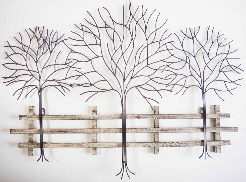 Metal Tree Wall Art – Contemporary Metal Wall Art Autumn Tree Scene Within Metal Tree Wall Art (View 3 of 10)