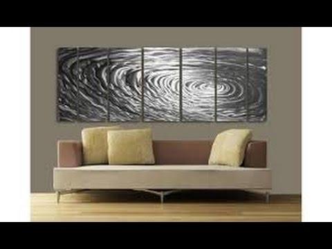 Metal Wall Art Decor | Modern Metal Wall Art Decor – Youtube Pertaining To Modern Metal Wall Art (Image 1 of 10)