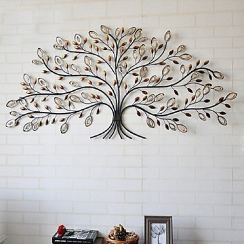 Metal Wall Art, Tree Of Life With Regard To Metal Wall Art Trees (Image 6 of 10)