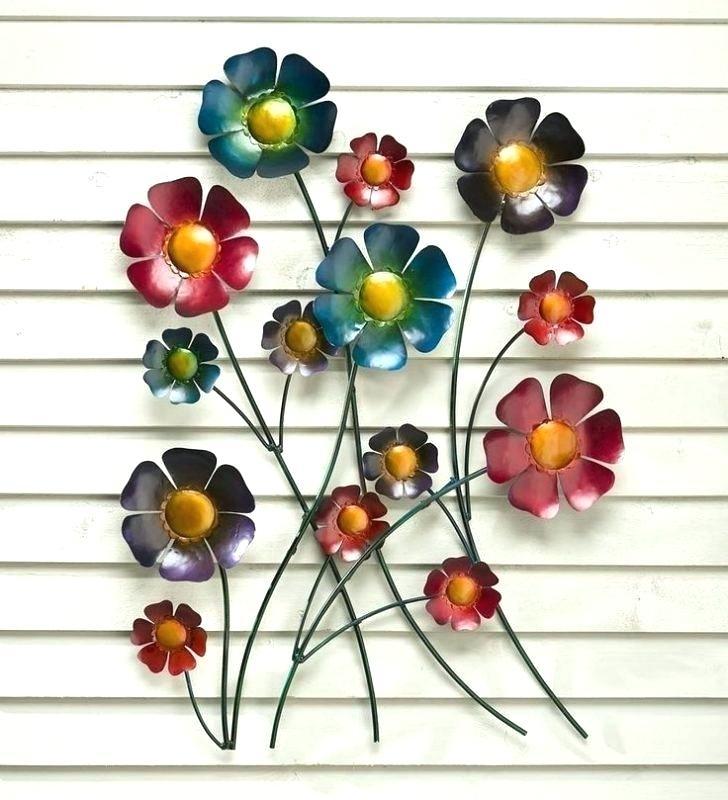 Metal Wall Flowers Metal Flower Wall Art Metal Wall Art Flowers With Metal Flower Wall Art (Image 6 of 10)