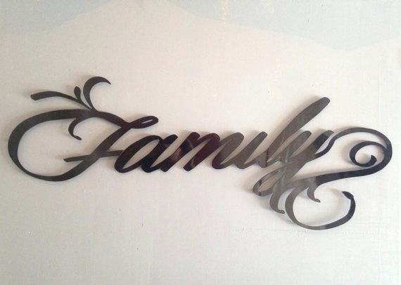 Metal Wall Signs Family Metal Wall Art Family Sign Metal Art Wall In Family Metal Wall Art (Image 9 of 10)