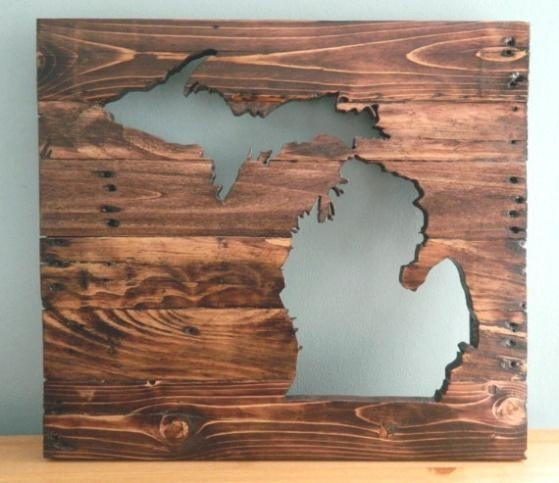 Michigan Wall Art Wall Art Luxury Wall Decor – Bloomsource (View 2 of 10)
