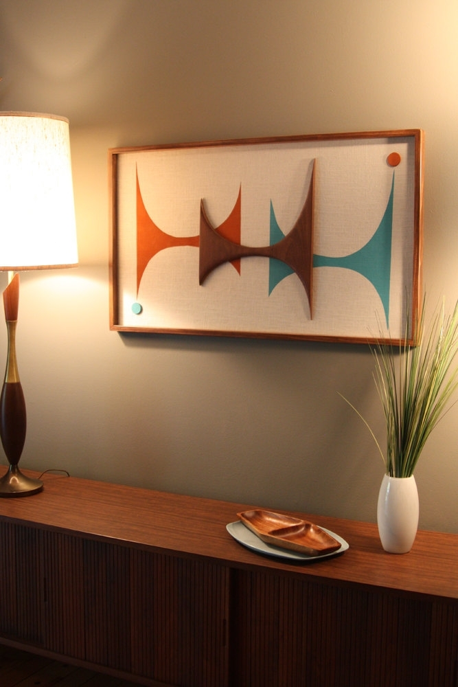 Mid Century / Danish Modern Atomic Witco Styled Wall Art, Mid For Mid Century Wall Art (Image 5 of 10)