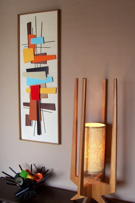 Mid Century Modern Abstract Wall Art Sculpture Painting Retro Eames Inside Mid Century Wall Art (Image 6 of 10)