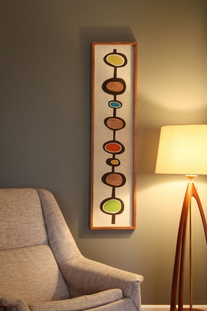Mid Century Modern Witco Abstract Wall Art Sculpture Painting Tiki Regarding Mid Century Wall Art (Image 9 of 10)