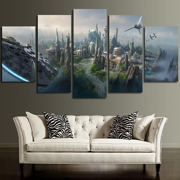Millennium Falcon | Star Wars Canvas Panel Wall Art | Panelwallart In Panel Wall Art (Image 8 of 10)