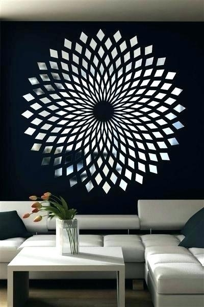 Mirror Wall Art Decor Mosaic Amazing Buy Mirrored Fretwork Square In Within Mirrored Wall Art (Image 6 of 10)