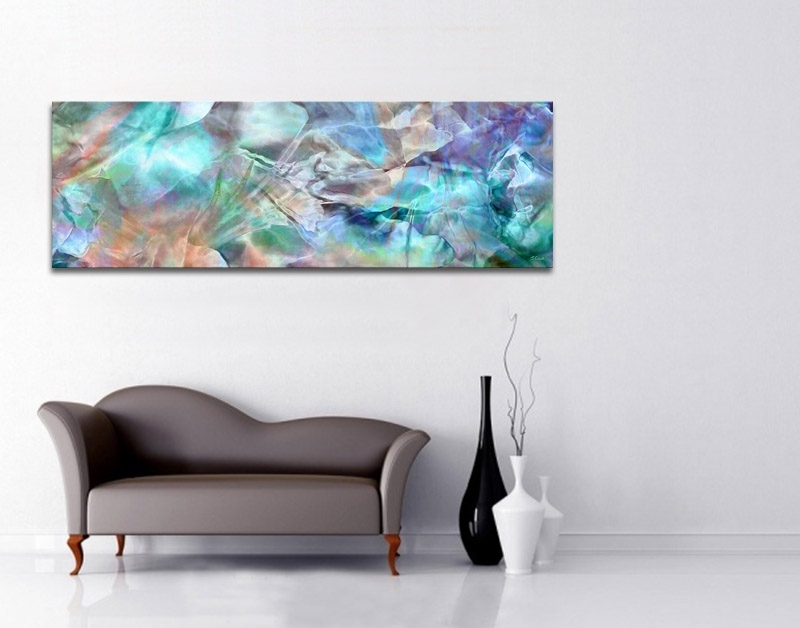 Modern Abstract Art – Interior Decor Options With Large Canvas Art – Pertaining To Oversized Teal Canvas Wall Art (Photo 5 of 10)