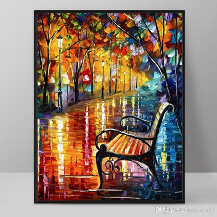 Modern Art Deco Oil Painting Hd Print On Canvas Wall Art Picture Pertaining To Modern Painting Canvas Wall Art (Photo 2 of 10)