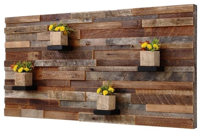 Modern Decoration Rustic Wood Wall Decor Reclaimed Barn Wood Wall Inside Wooden Wall Art (View 8 of 10)
