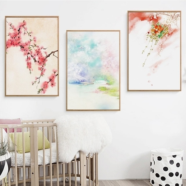 Modern Home Decor Japanese Wall Art Landscape Wall Pictures For In Japanese Wall Art (Image 8 of 10)