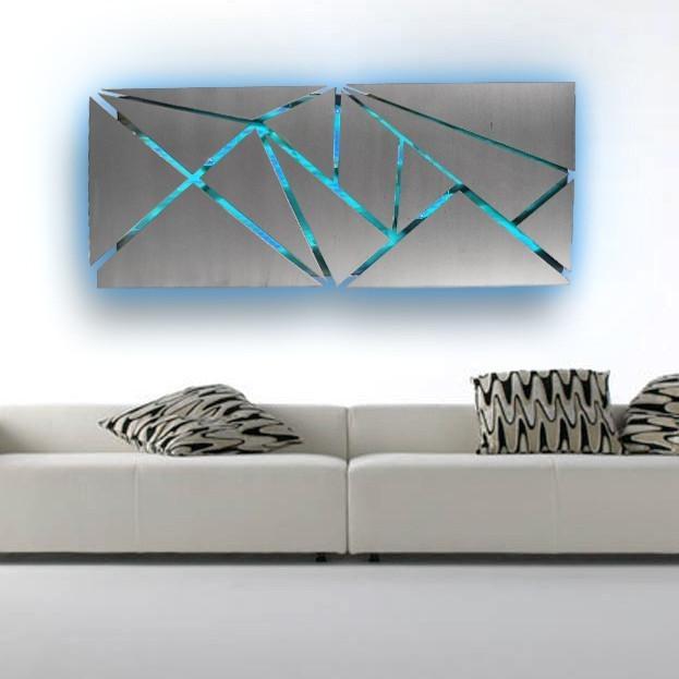 Modern Metal Wall Art – Www (Image 2 of 10)