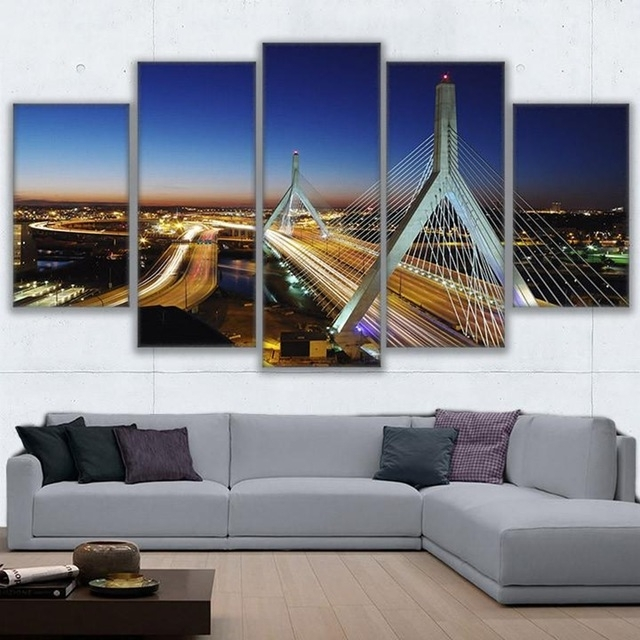 Modern Wall Art Canvas Hd Prints Painting Frame Modular Poster 5 Within Boston Wall Art (Image 10 of 10)