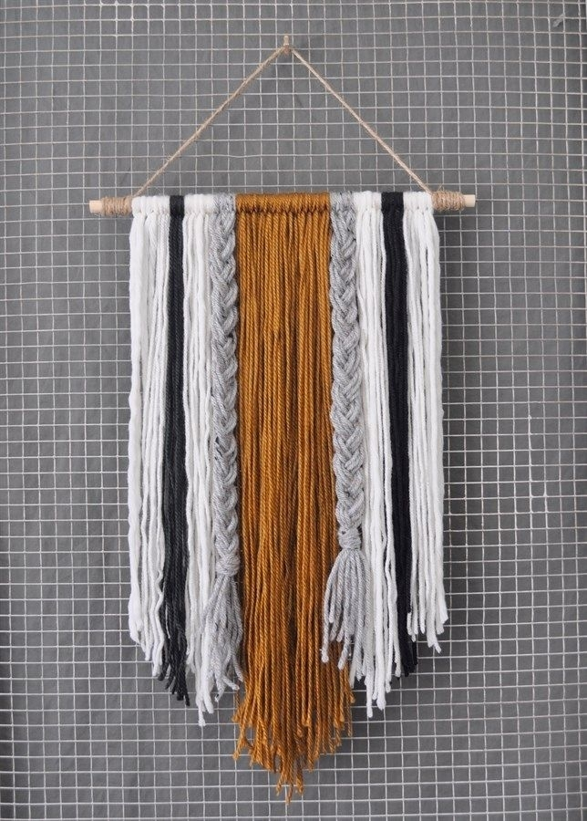 Modern Yarn Wall Hanging | Home & Space | Pinterest | Conversation For Yarn Wall Art (Image 7 of 10)