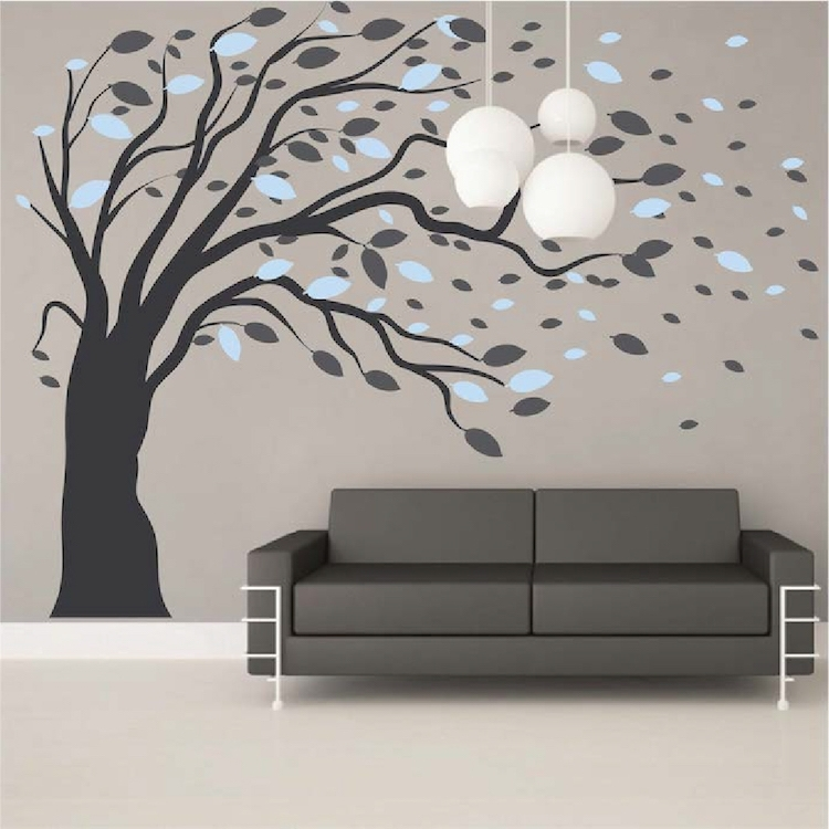 Modishblowing Tree Wall Art Stickers Artistic Design Wall Decals Hot In Tree Wall Art (View 9 of 10)