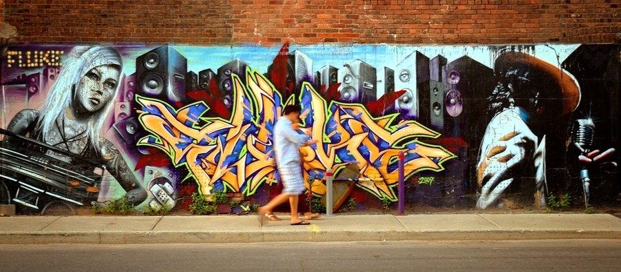 Montreal Graffiti Wall Artfrenchiesmalls On Deviantart Throughout Graffiti Wall Art (Image 9 of 10)