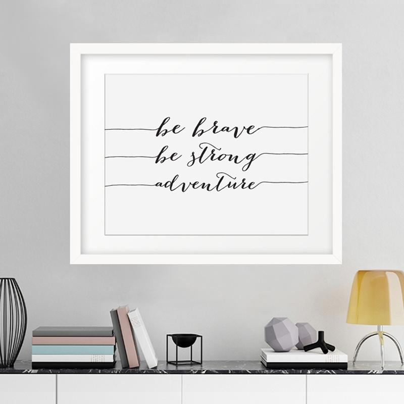 Motivational Wall Art White : Andrews Living Arts – Cool Ideas With Motivational Wall Art (View 5 of 10)