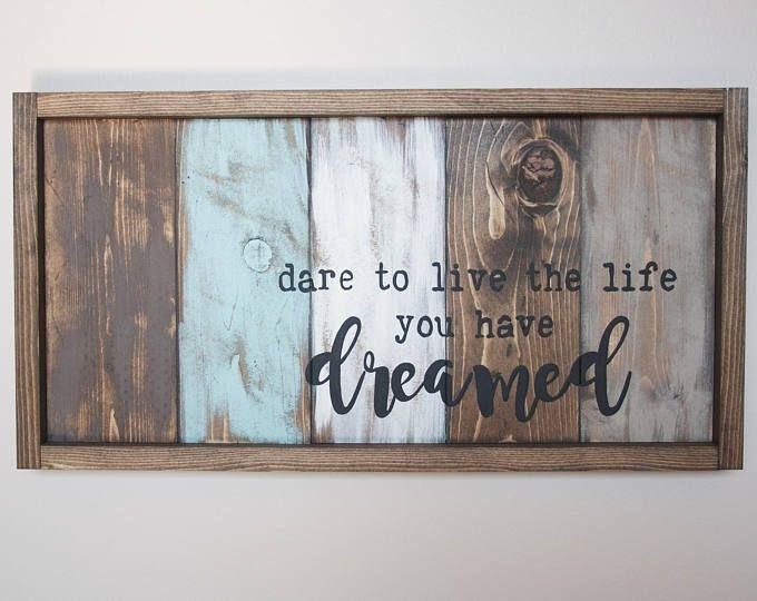 Motivational Wall Decor – Live The Life You Love – Pallet Wall Art Regarding Pallet Wall Art (Image 7 of 10)