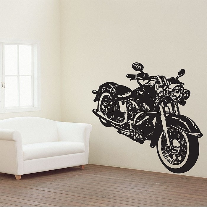 Motorcycle Vector Graphic Vinyl Wall Art Decal Inside Motorcycle Wall Art (Image 5 of 10)