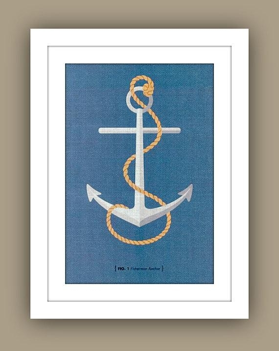 Nautical Childrens Wall Art13Westdesign – Etsy With Regard To Anchor Wall Art (View 4 of 10)