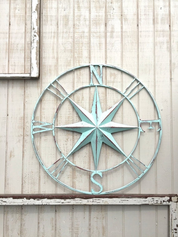 Nautical Compass Wall Art, Nautical Decor, Nautical Wall Art In Nautical Wall Art (View 7 of 10)
